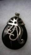 Black Onyx Pendant For Sale