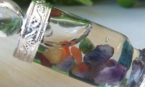 Pendulum with Floating Chakra Stones