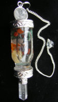 Pendulum with Floating Chaktra Stones with Quartz