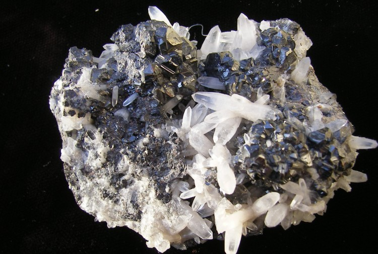 Galena with Quartz Needles - Bulgaria - For Sale