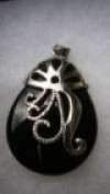 Black Onyx Pendant For Sale