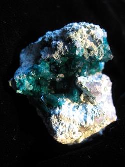 Dioptase-Quartz-Plancheite From Nambia