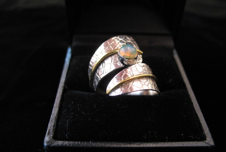 Australian Opal Ring - Size 6.5 - For Sale - Fossils-Crystals.com