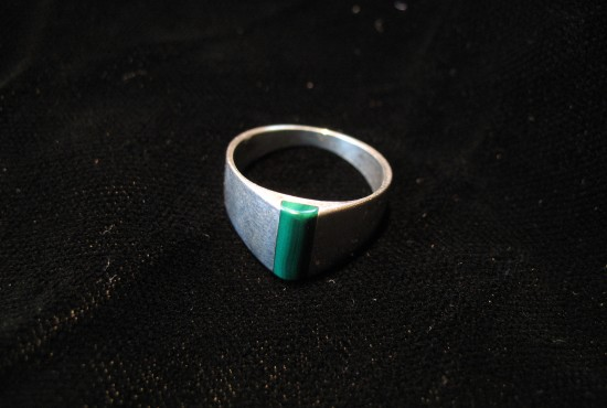 Malachite Pinky Ring - Size 5 - For Sale - Fossils-Crystals.com