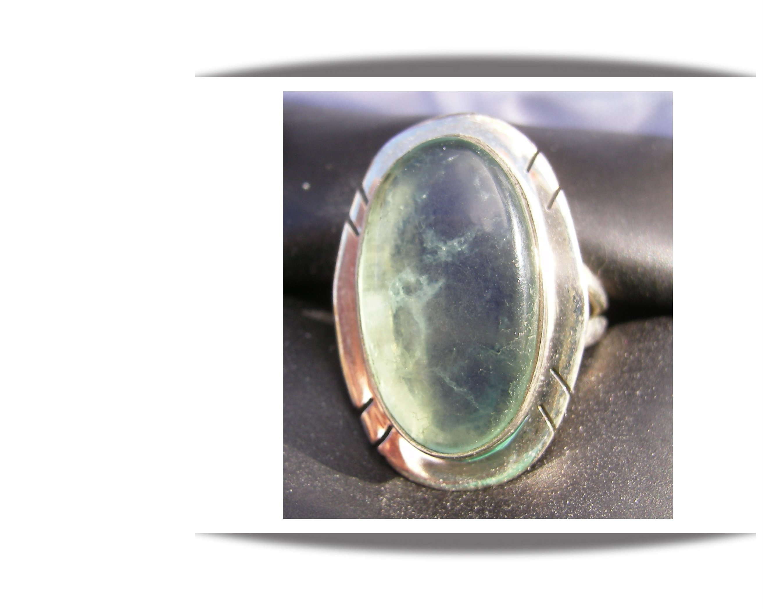 layered nordic of fluorite the made brass ring and rings dwarven double silver pin